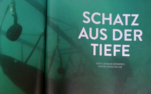 """""""Schatz aus der Tiefe"""": Doppelseitiges Foto vor Textbeginn. [WALD]"""