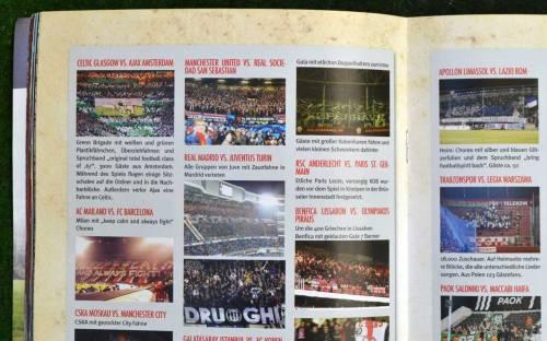 Blickfang Ultra berichtet auch über die Champions. Statt Ergebnissen präsentiert das Heft Fanblock-Aufnahmen.