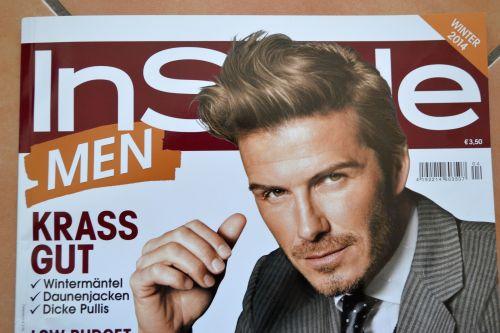 David Beckham als Coverboy; Aktuelle Titelseite des Magazins Instyle Men