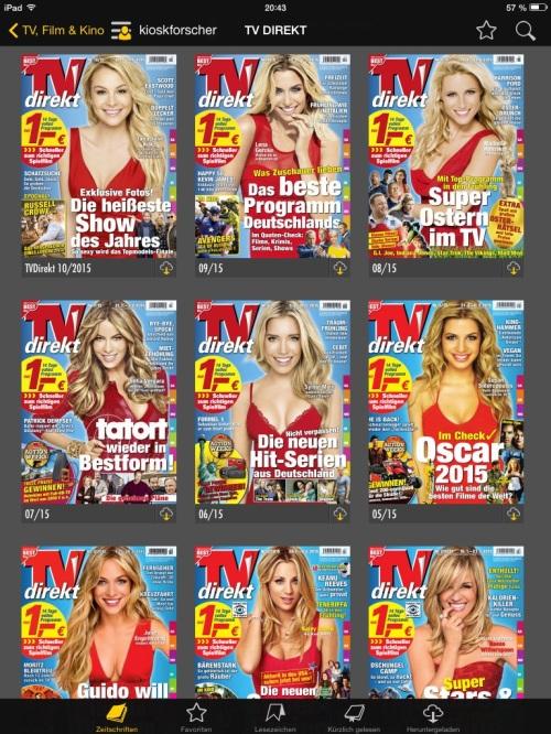 Cover der TV Direkt (Originalreihenfolge): Nicht ohne rotes Kleid