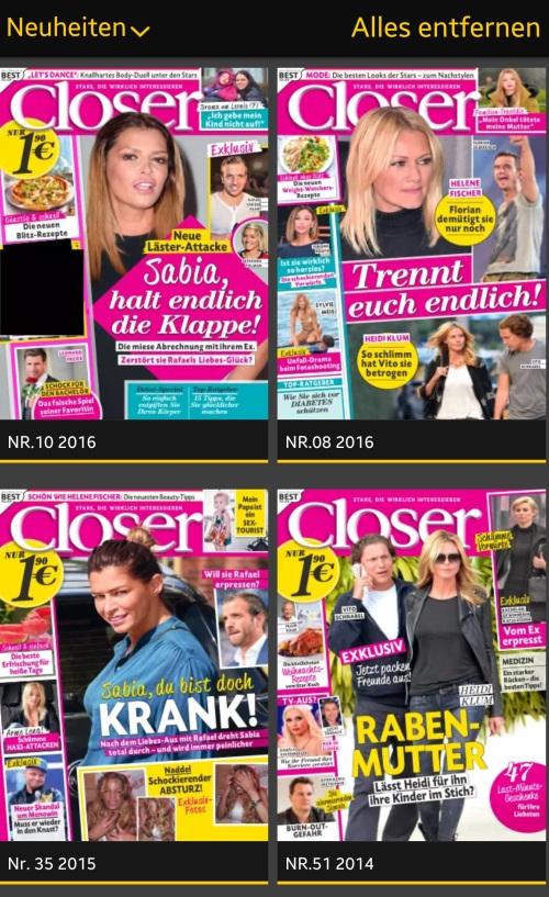 closer magazi